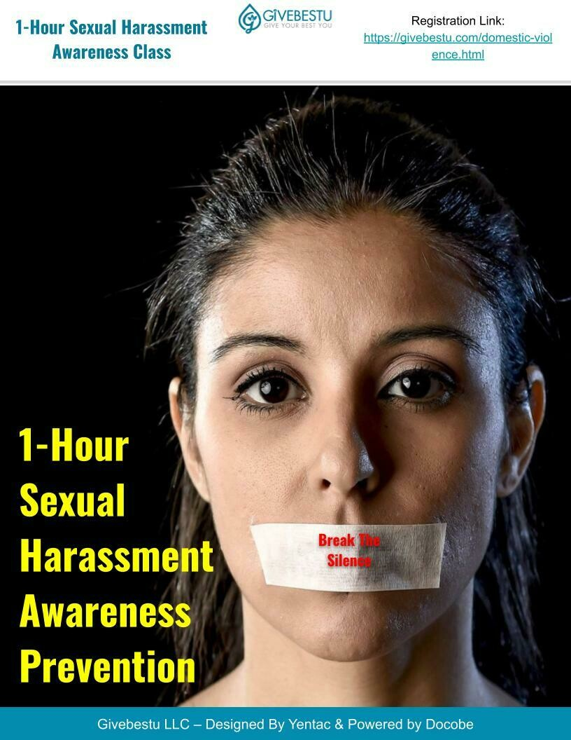 1-Hour Sexual Harassment Awareness Prevention Class