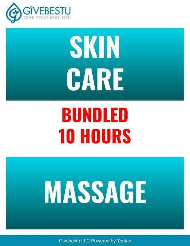 Bundle 10-Hours Skin Care & Self Care & Massage CE Class