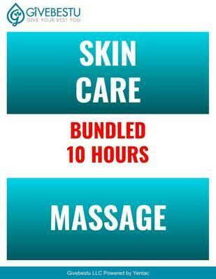 Bundle 10-Hours Skin Care & Self Care & Massage CE Class