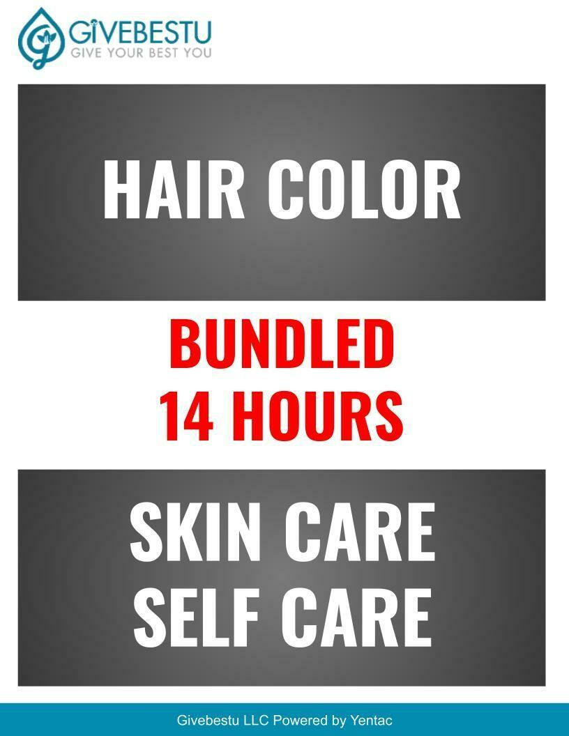 Bundle 14-HR CE Hair Color-Skin Care Self Care