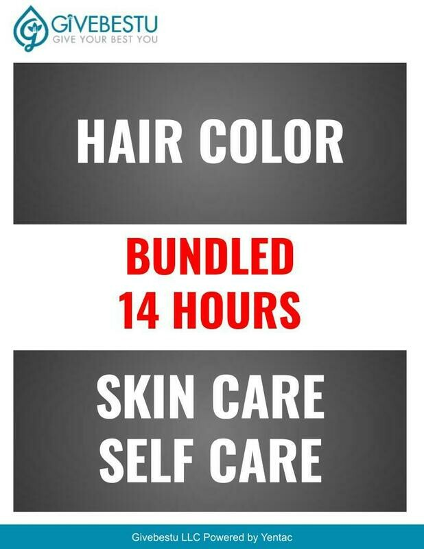 Bundle 14-HR CE Hair Color-Skin Care Self Care