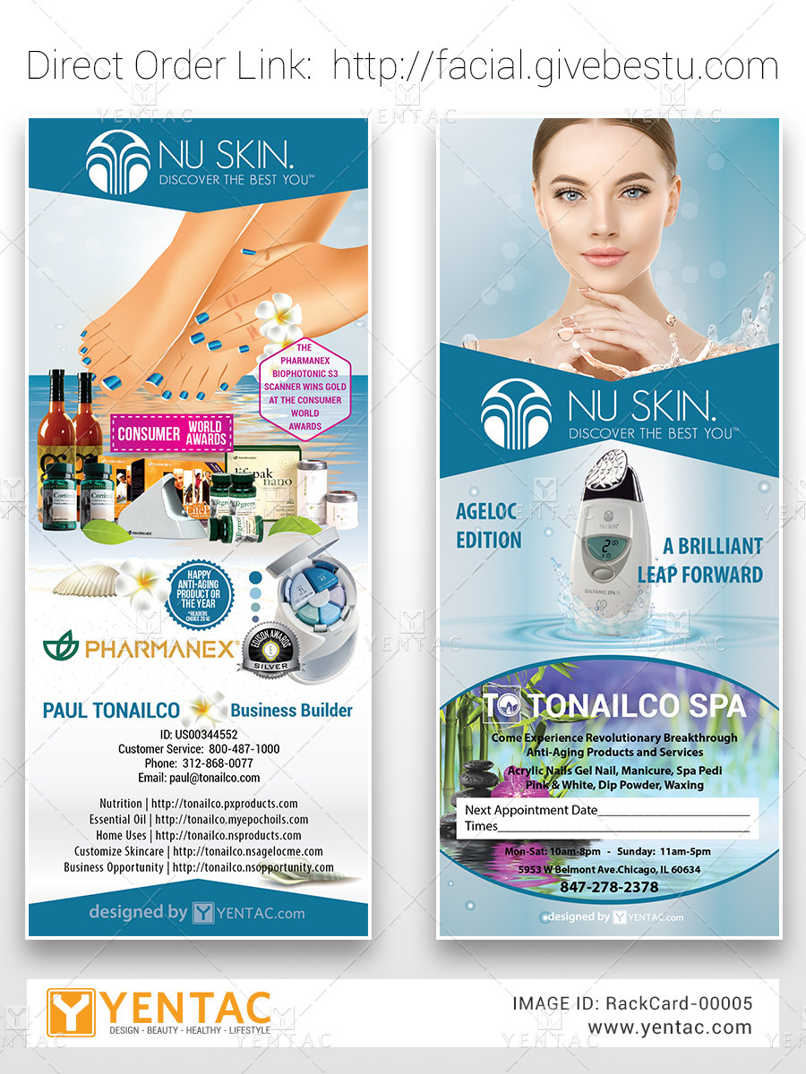 Facial Salon Rack Card - Design & Print