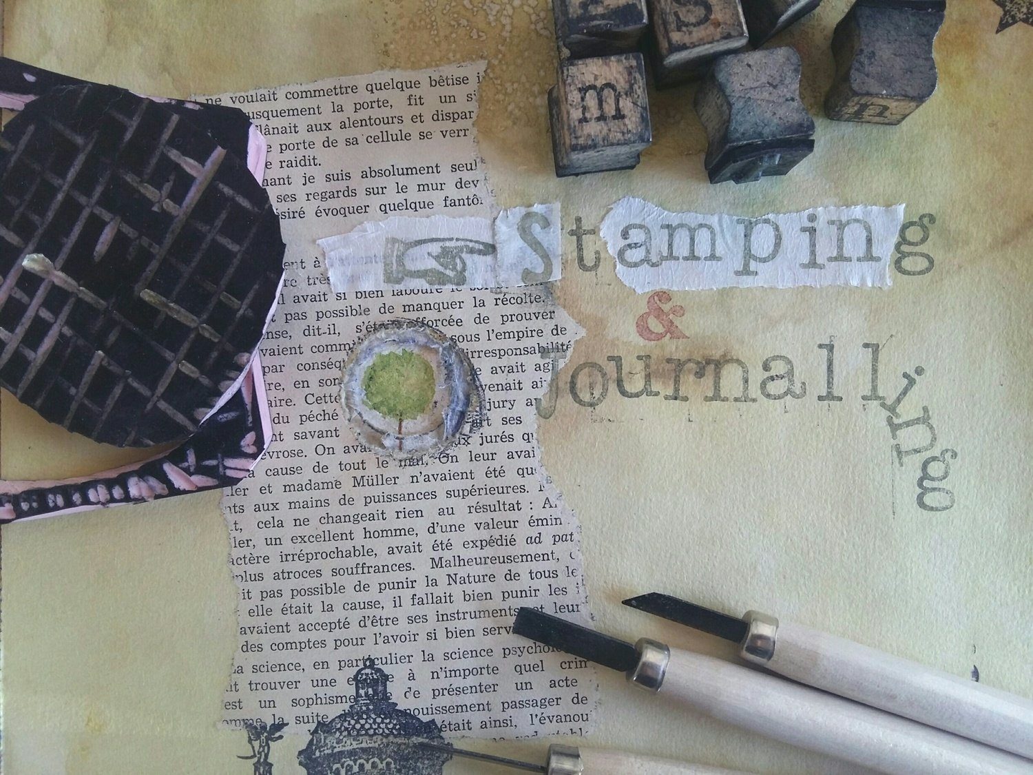 Stamping & journalling class with two experienced tutors!