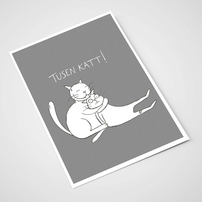 'Tusen katt' Card | A5 print