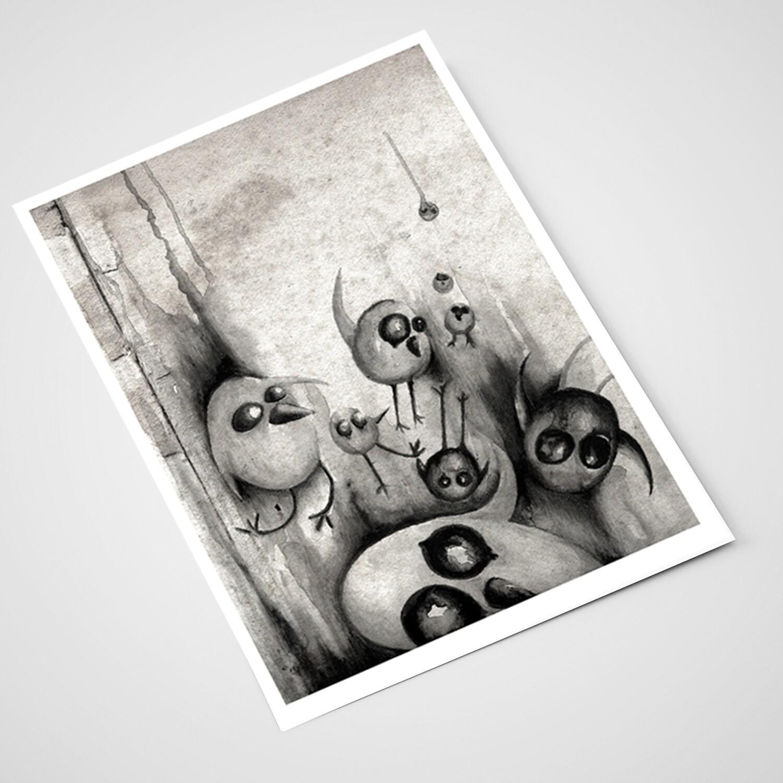 'Bye Bye Birdie' Card | A5 print