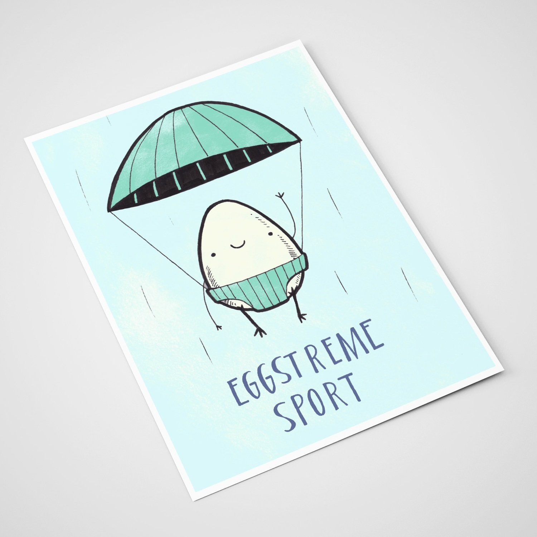 'Eggstreme sport' Card | A5 print