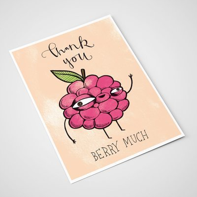 'Thank you berry much' Card | A5 print