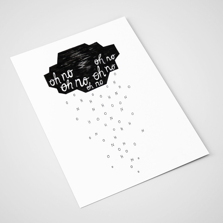 'Oh no' Card | A5 print