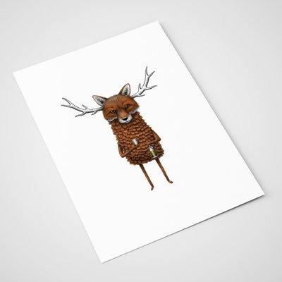 'Fox and Scotch' Card | A5 print