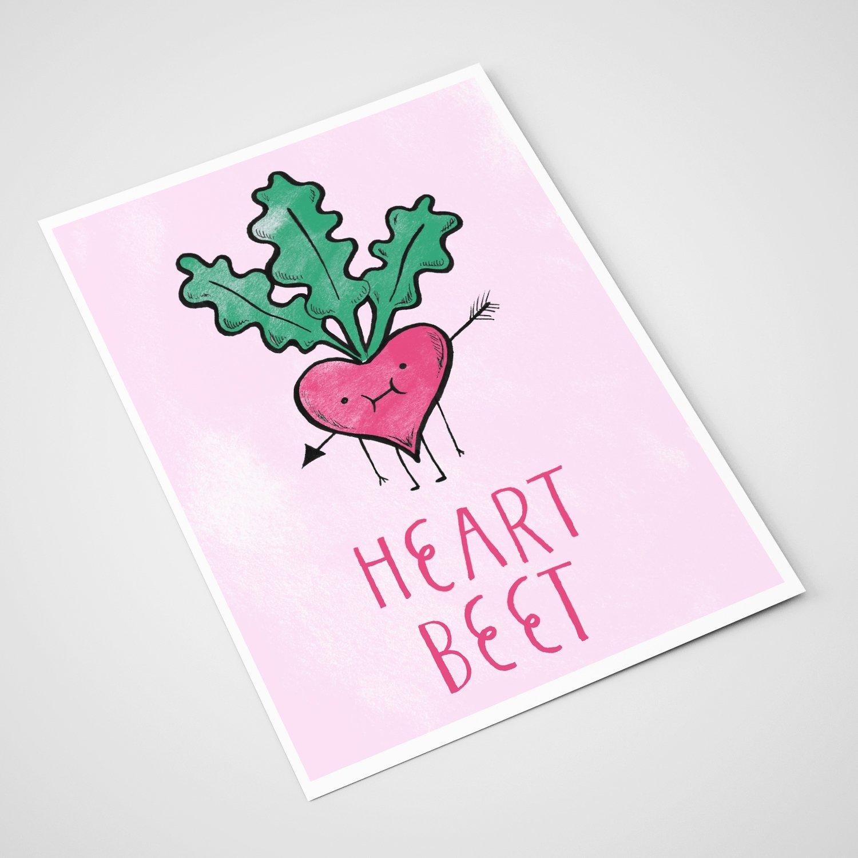 'Heartbeet' Card | A5 print