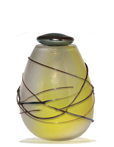 Urn Glas - Wrapped In White
