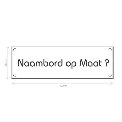 Prijsaanvraag Naambord Glas Op Maat