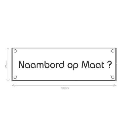 Prijsaanvraag Naambord RVS Op Maat