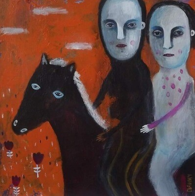 ''Once upon the time'' (''Riders''),  original painting