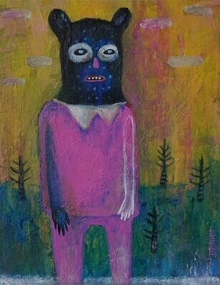''The man who liked to masquerades'', original painting