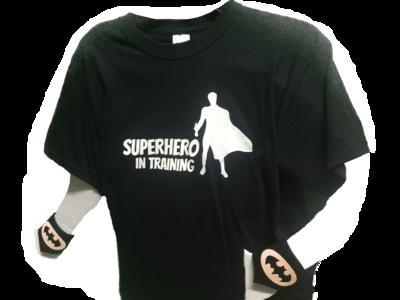 Superhero in Training t-shirt (kids sizes)