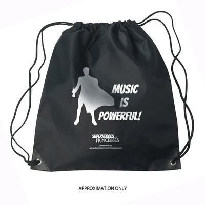 Drawstring Bag: Music is Powerful