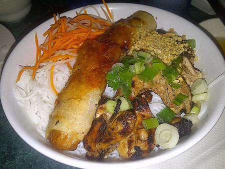 51. Egg Rolls, Grilled Chicken & Noodles (Bun Cha Gio va Ga Nuong)