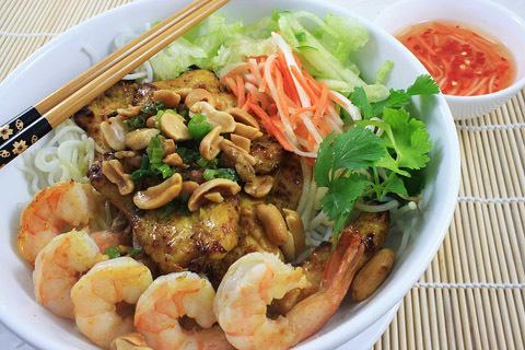 53.  Shrimp, Grilled Chicken & Noodles (Bun Tom Ga Nuong)