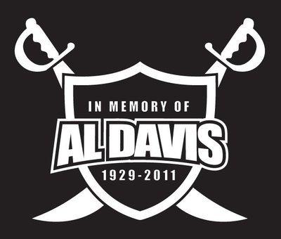 Al Davis Vinyl Decal