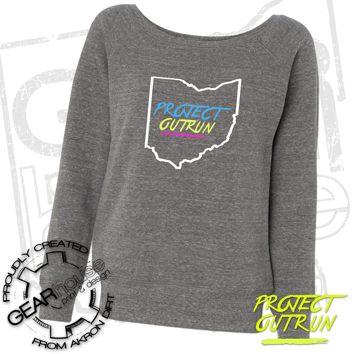 Project Outrun Women's Ohio Wide Neck Fleece