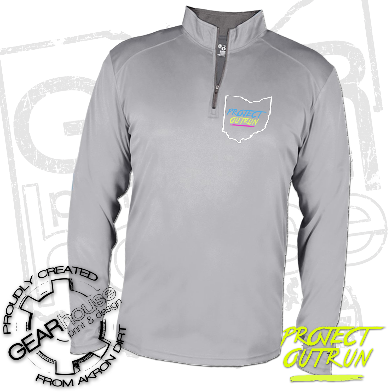 Project Outrun Unisex Quarter Zip Pullover