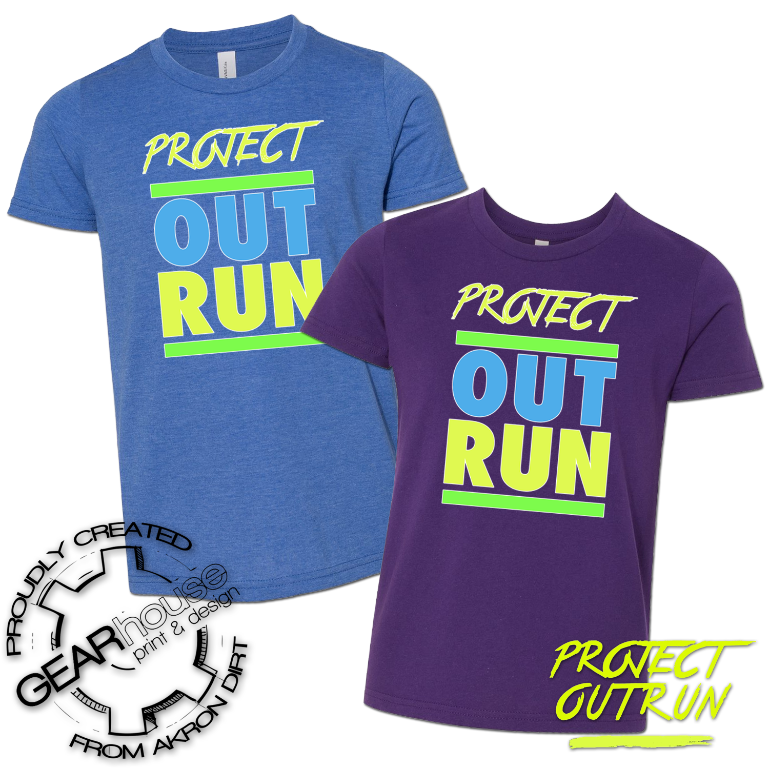 Project Outrun Youth Block Tee