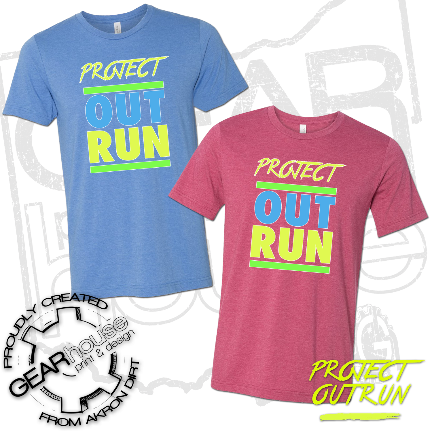 Project Outrun Unisex Block Tee