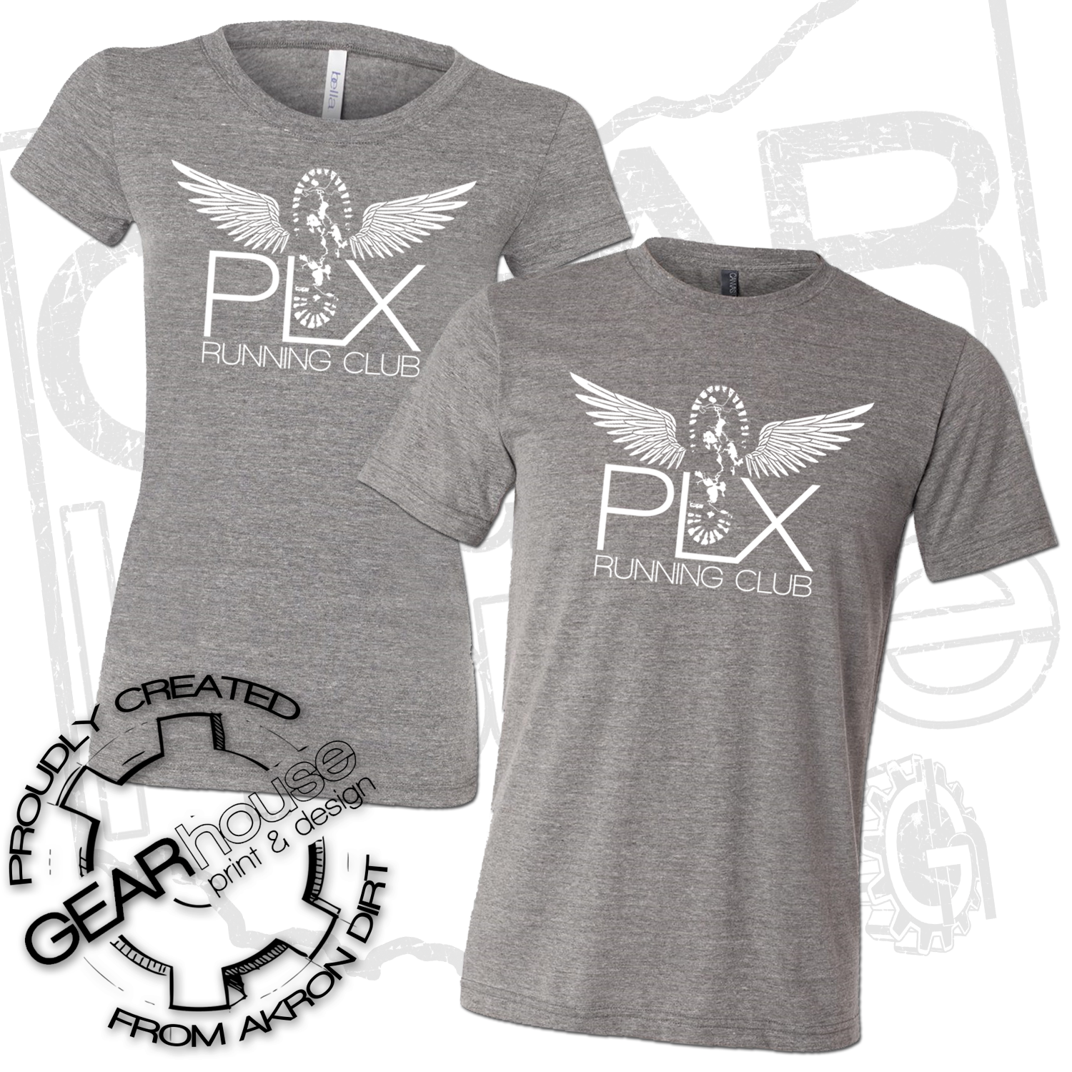 PLX RUNNING CLUB FITTED TEE