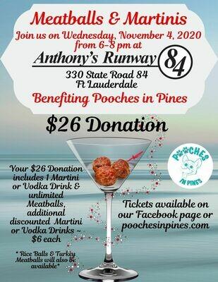 Meatballs & Martinis Fundraiser