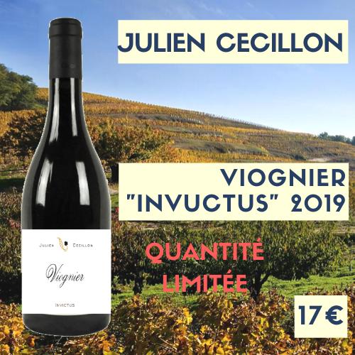 """6 bouteilles de Julien Cécillon, IGP Viognier """"Invictus"""" 2019 (17€)"""