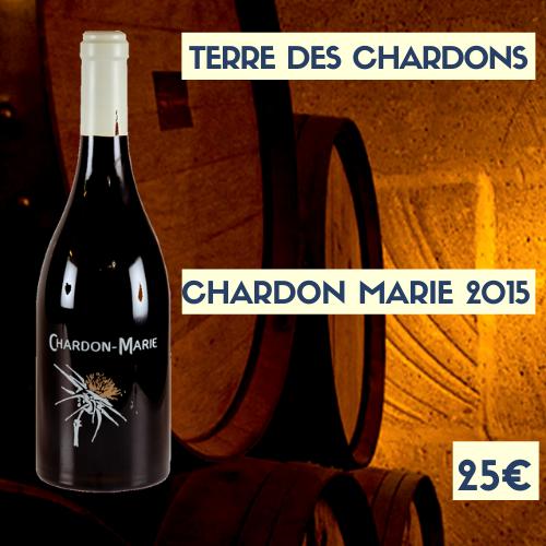 """6 bouteilles Terre des Chardons """"Chardon - Marie"""" Costières de Nîmes 2015 (rouge) (25€)"""