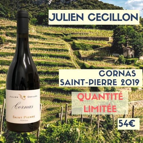 """panaché  3 Cornas """"Saint-Pierre"""" (54€) et 3 Saint-Joseph """"Babylone"""" 2019 (24€) Julien Cécillon"""