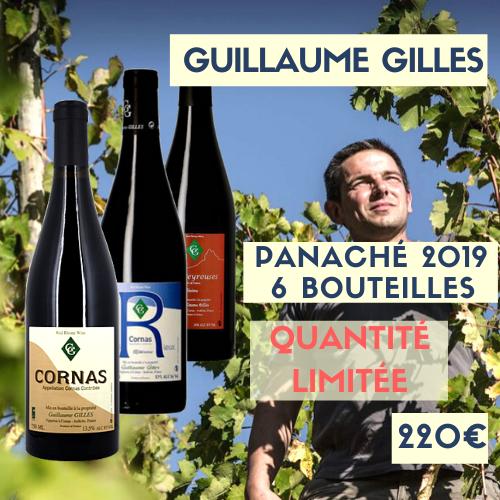 Panaché Guillaume Gilles 2 Cornas (Chaillot), 2 Cornas Nouvelle R, 2 Vin de France Les Peyrouses 2019 (220€)