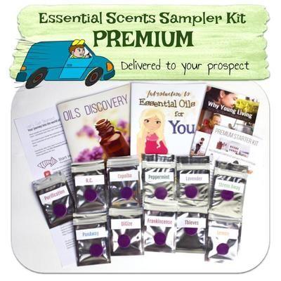 Premium Essential Scent Sampler Kit delivered to prospect
