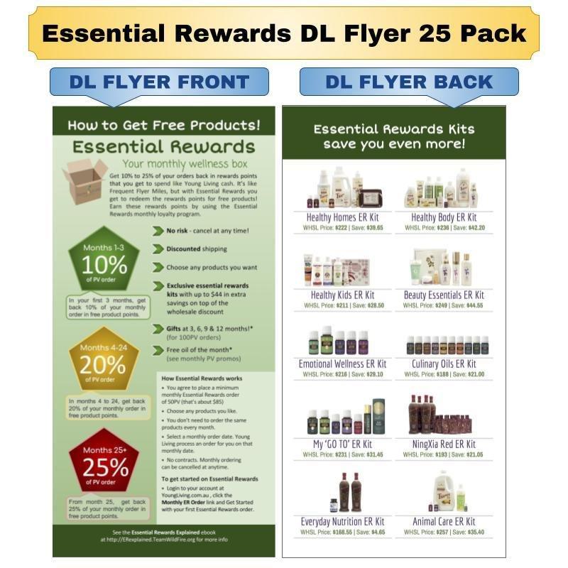 Essential Rewards DL Flyer 25 Pack