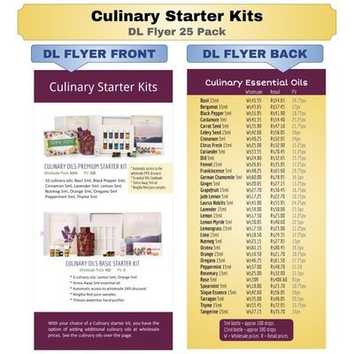 Culinary Starter Kits DL Flyer 25 Pack