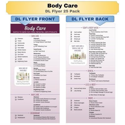 Body Care DL Flyer 25 Pack