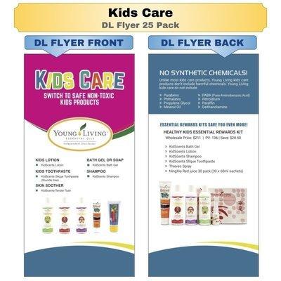 Kids Care DL Flyer 25 Pack