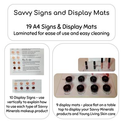 Savvy Minerals Display Signs and Display Mats