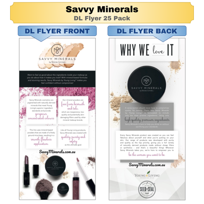 Savvy Minerals Flyer 25 Pack