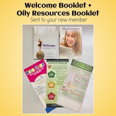 Welcome + Oily Resources sent to new member