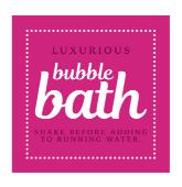 Bubble Bath Label