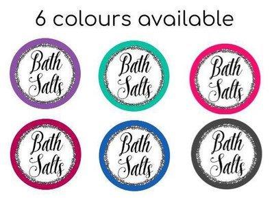 Bath Salts Label