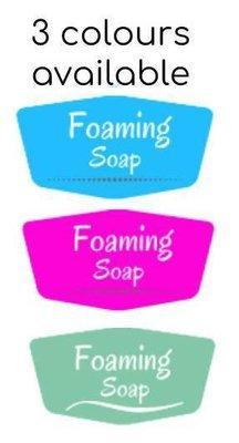 Foaming Soap Label - 3 colours