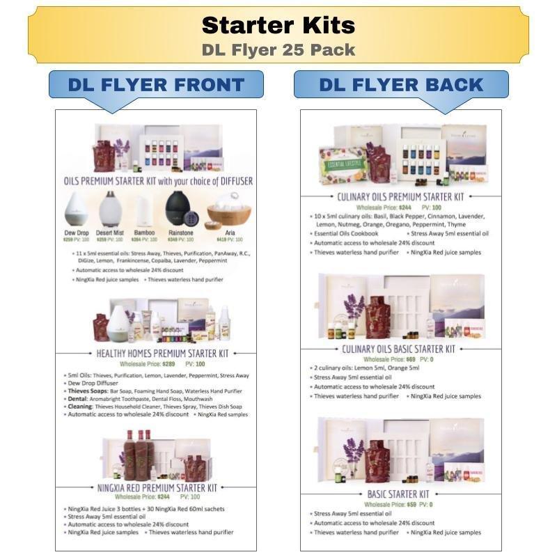 Starter Kits DL Flyer 25 Pack