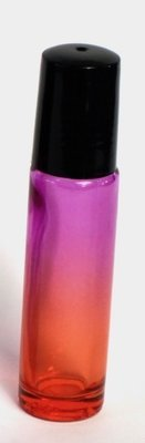 Pink-Tangerine Gradient Rollerball thick glass bottle (optional label) - 10ml