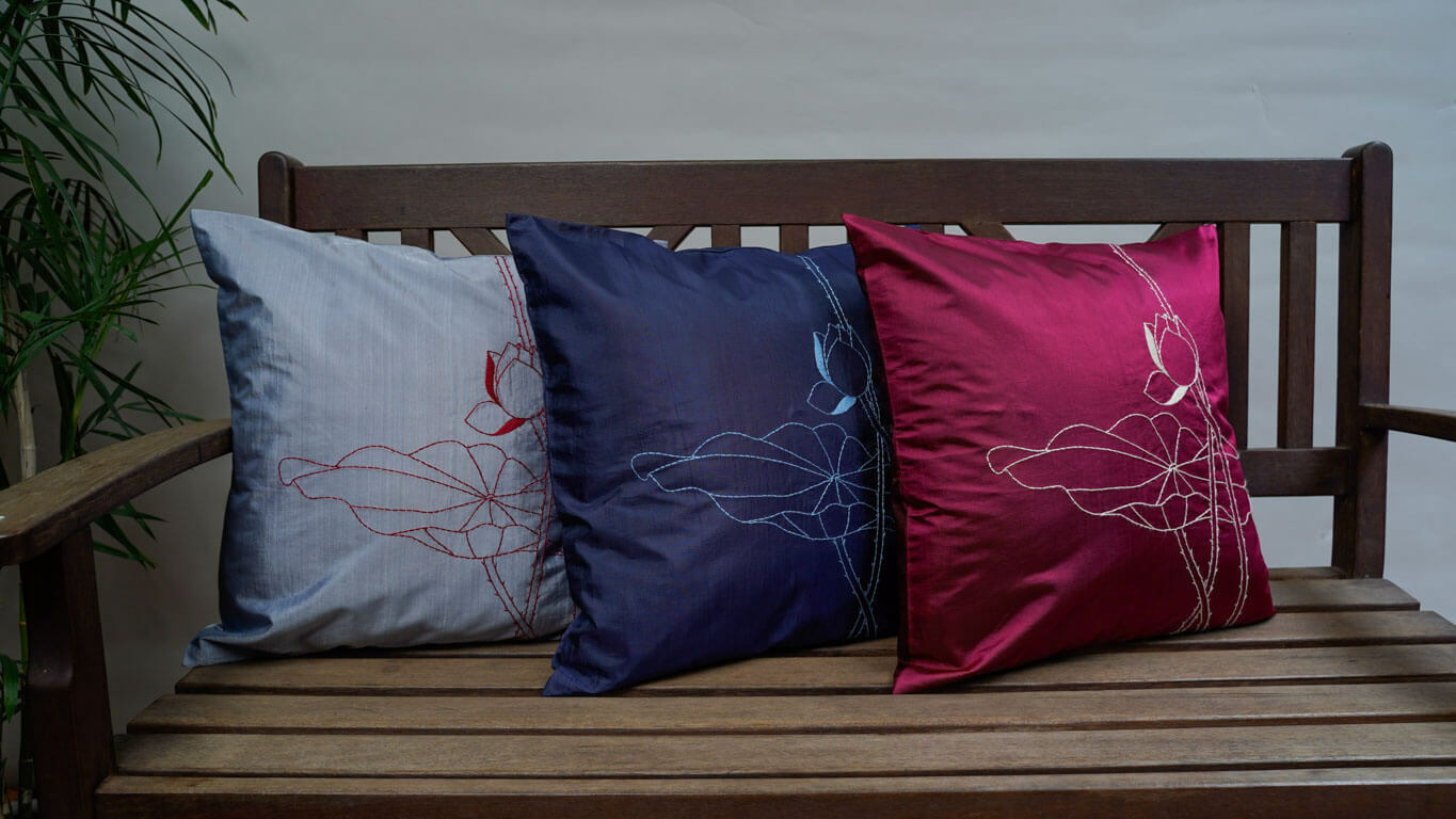 "Cushion Cover ""Lotus"""