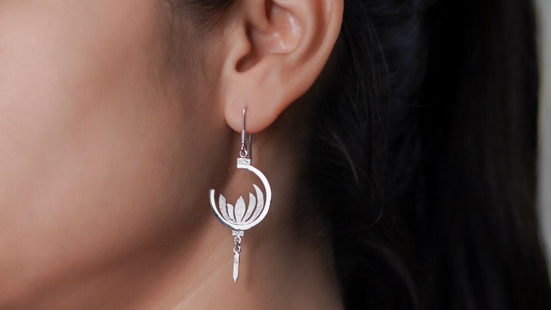 """Lotus in the Lantern"" Earring"