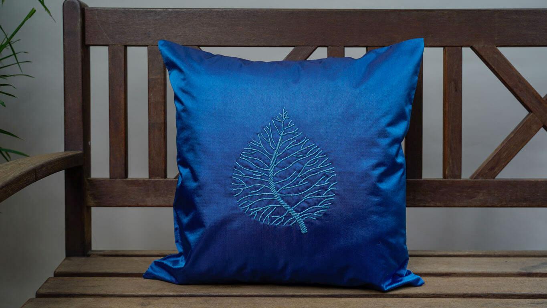 """Cushion Cover """"Single Leaf"""" CH47BG"""